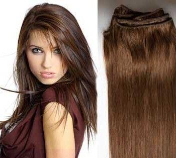 Mega Hair Cabelo Tecido 60CM #6 (Castanho Médio) 02