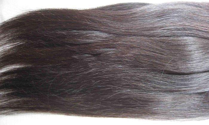 Como clarear Preto Virgem para cabelo para um cabelo Loiro acinzentado escuro