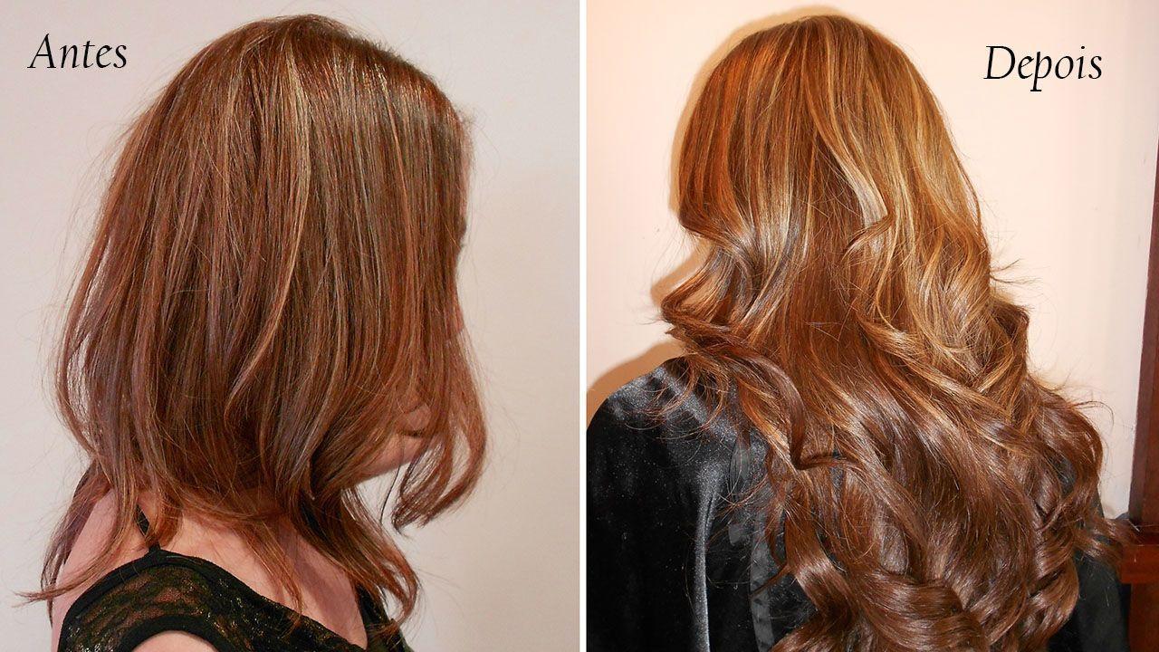 Resultado de imagem para mega hair antes e depois