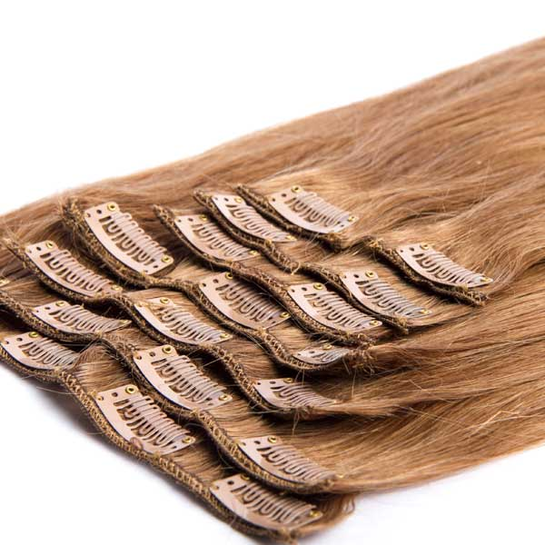 Mega Hair Tic Tac 50CM cor #6 (Castanho Médio)